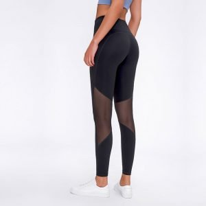 Black High Waist See Thru Yoga Pants of 2020