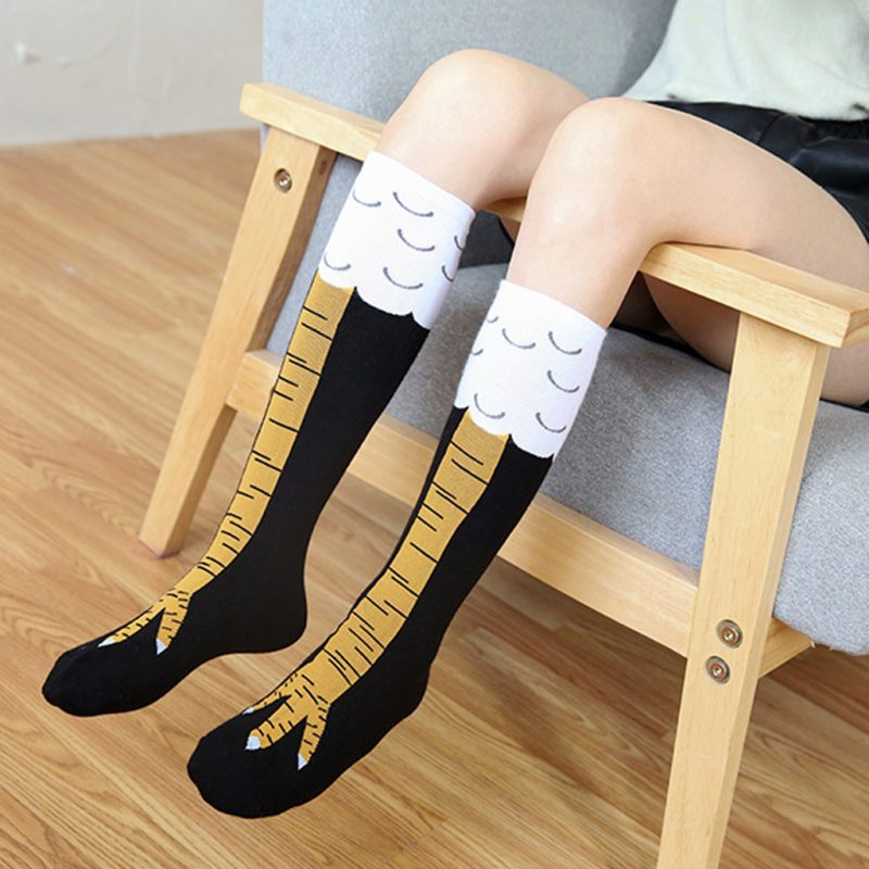 Crazy Funny Knee High Chicken Leg Socks