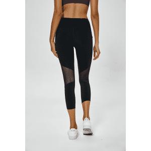 Capri Length Medium Waist Skinny Mesh Leggings