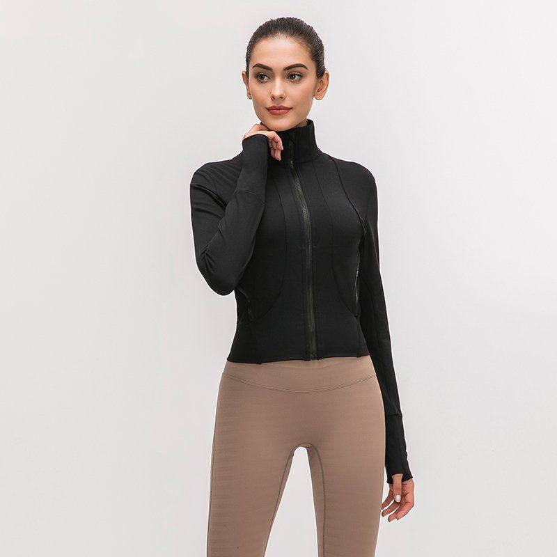 Full Zip Slim Fit Yoga Jacket