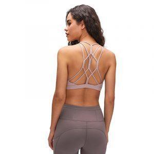 Crisscross Back Strappy Sports Bra main image